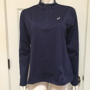 ASICS Athletic/Athleisure 1/2 Zip Winter Top, NWT!